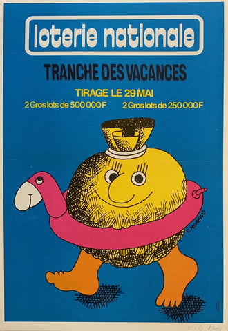 "Loterie Nationale: ""Money Pool Floatie"" - Poster Museum"