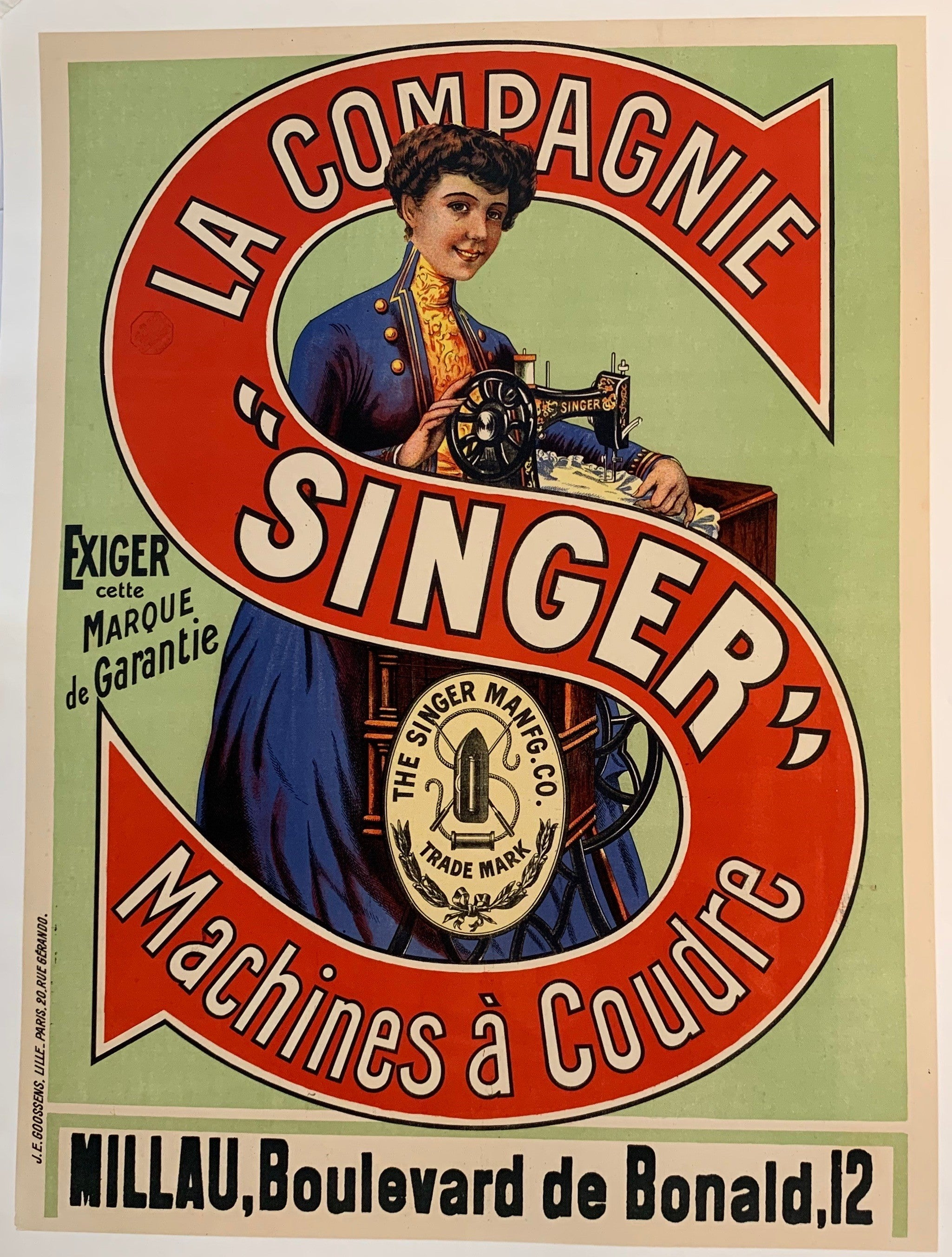 "La Compagnie ""Singer"" Machines a Coudre (Newer)"