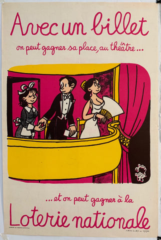 French Lottery Poster - Opera