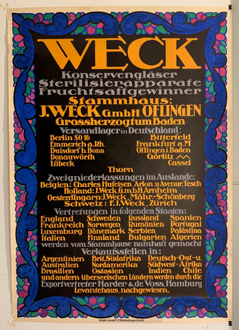 Weck Poster