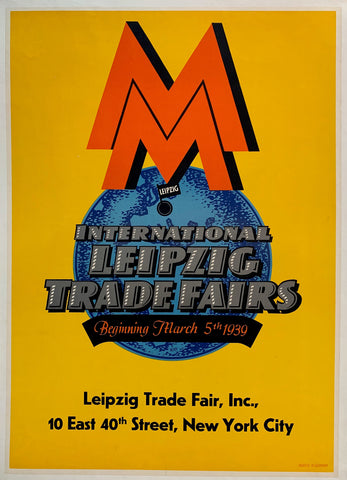 International Leipzig Trade Fairs Beginning March 5th 1939