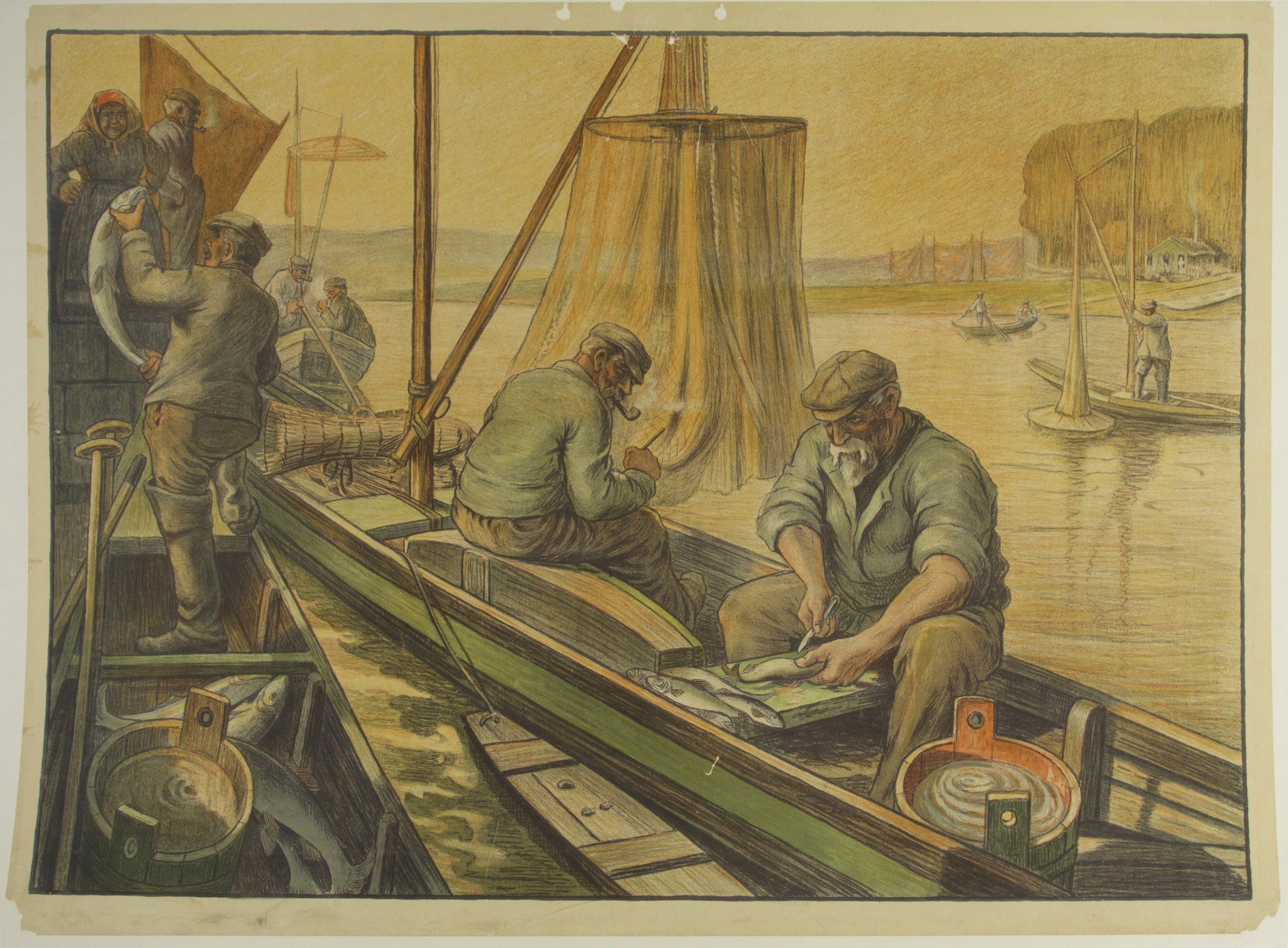 Fishermen on a River