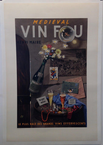"Medieval Vin Fou ""Le Plus Race Des Grands Vins Effervescents"""
