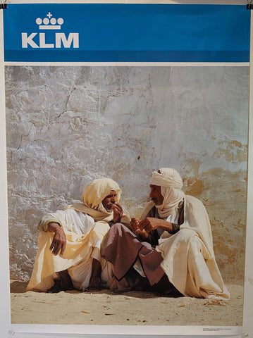 "KLM Airlines Travel ""North Africa"" - Poster Museum"