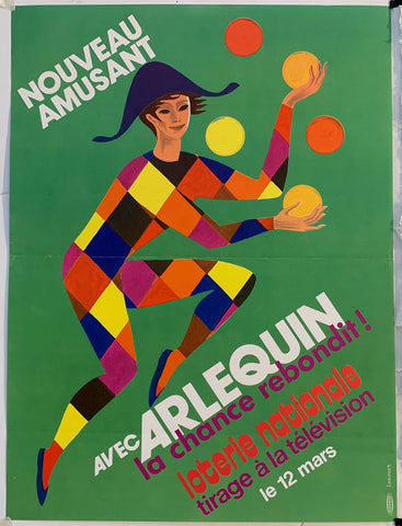 Arlequin Loterie Nationale - Juggling in Green