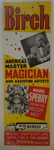 America's Master Magician -Magic at it's best BIRCH & Mabel Sperry