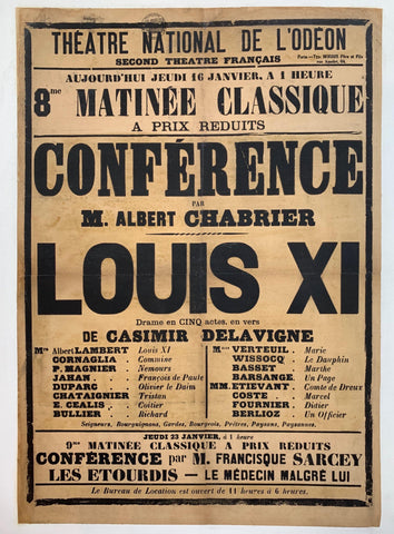Conference Louis XI - Poster Museum