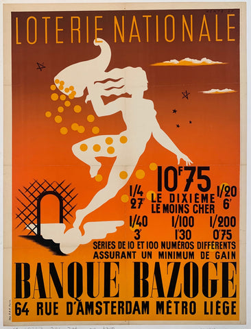 Loterie Nationale Banque Bazoge Print