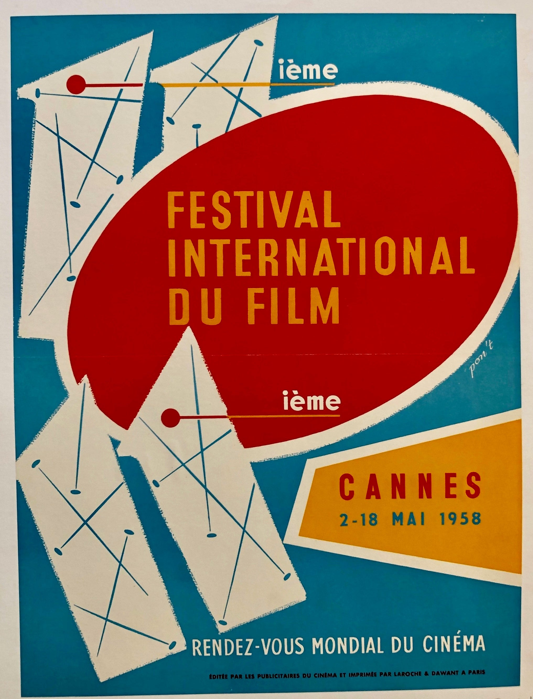 Festival International du Film - Cannes 2-18 Mai 1958