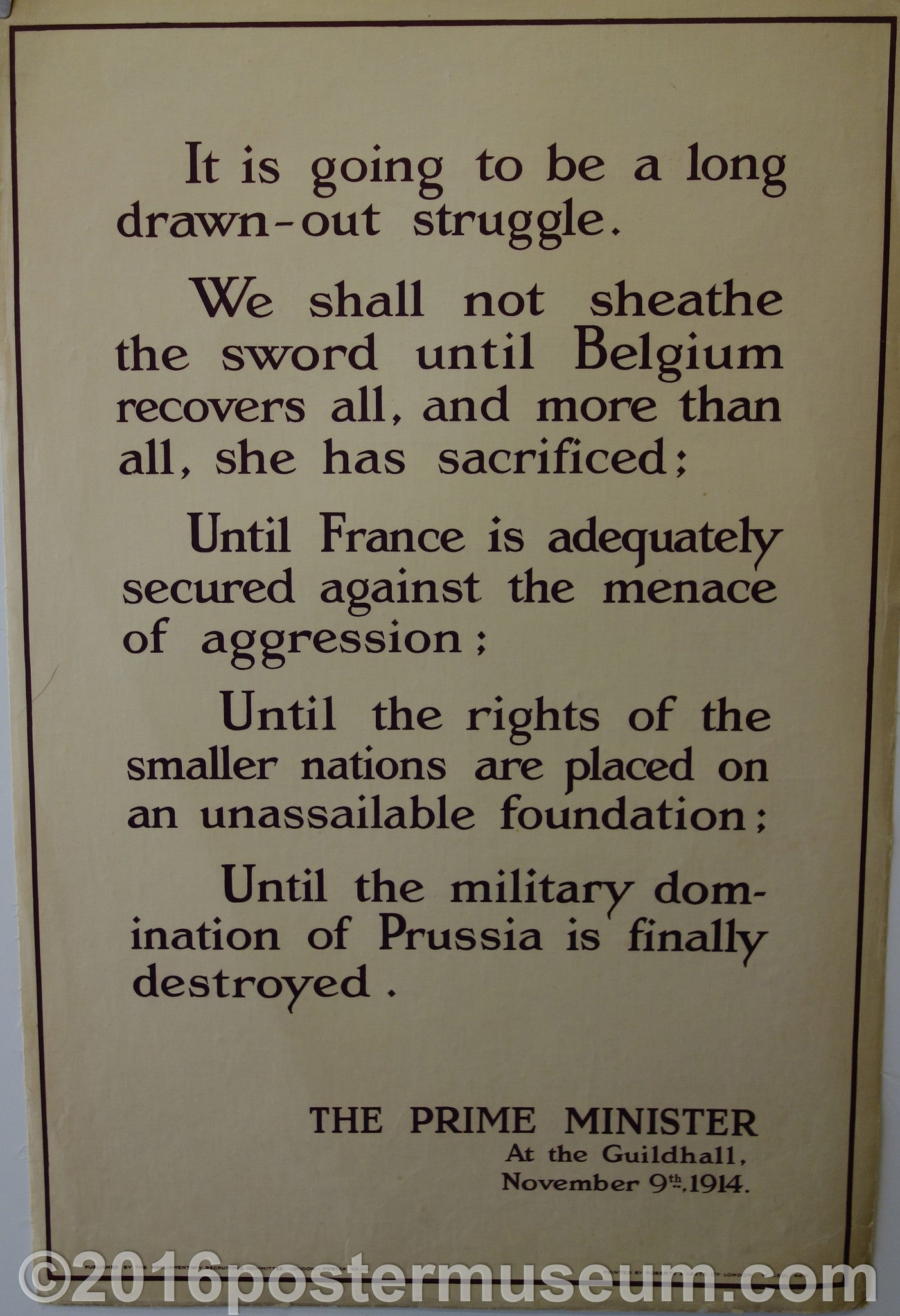 It is going to be a long and drawn out struggle (1914)