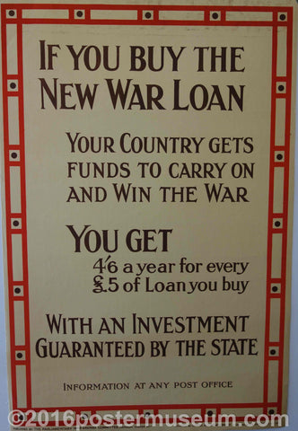 If you buy the new war loan