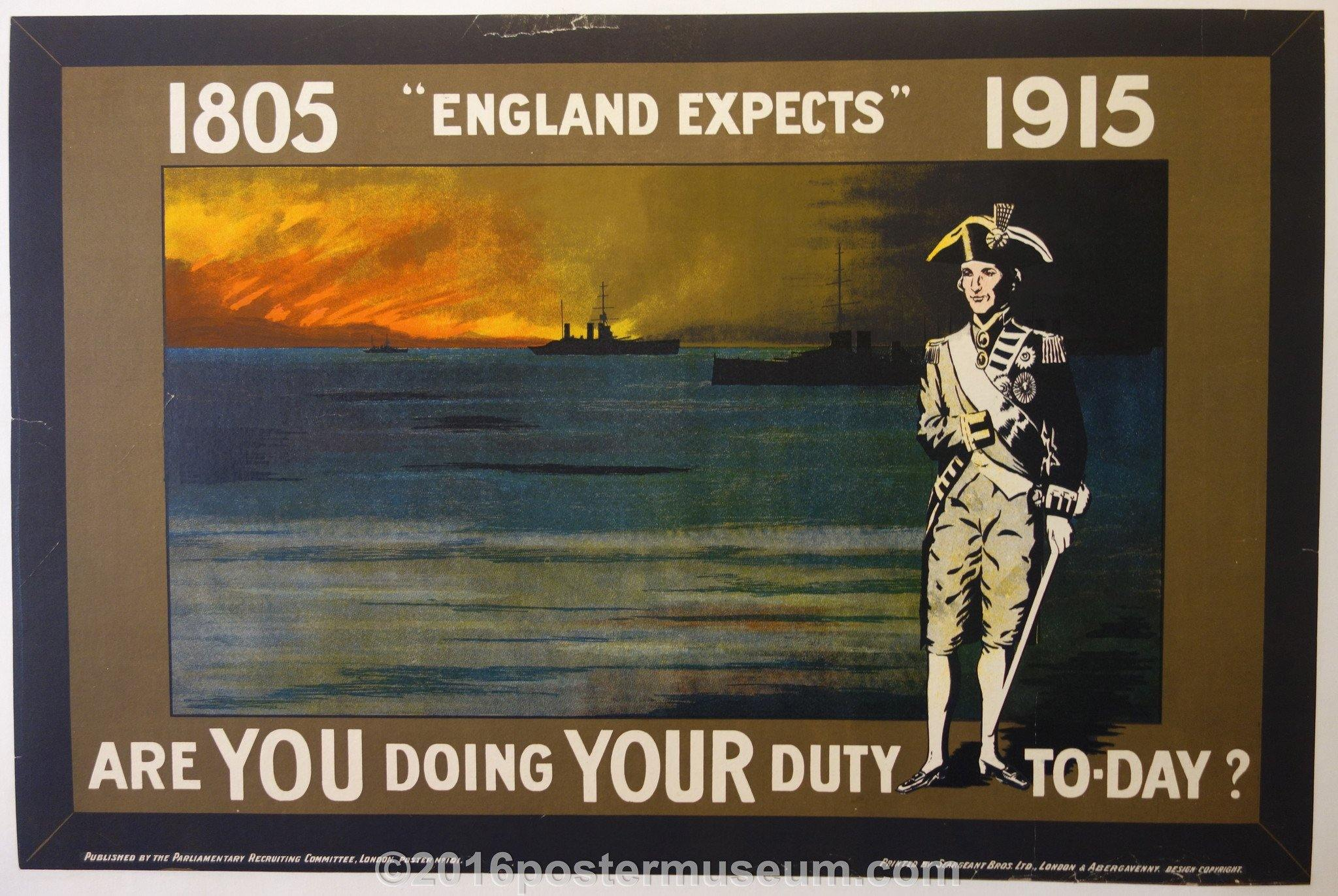 "1805, ""England Expects"", 1915"