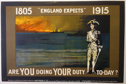 "1805, ""England Expects"", 1915 - Poster Museum"