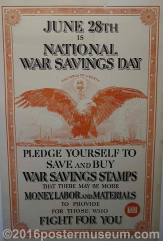 June 28th is National War Savings Day