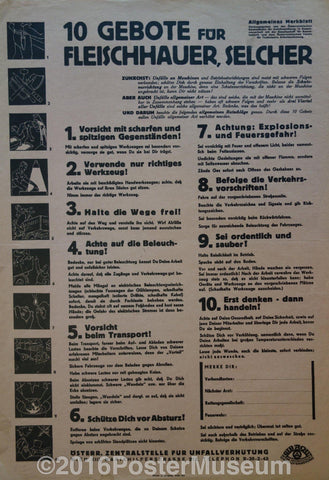 10 Gebote10 commandments for the pork butcher - Poster Museum