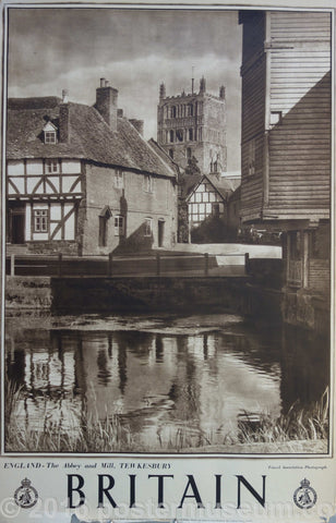 Britain- ENGLAND- The Abbey and Mill, TEWKESBURY