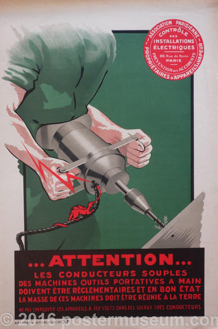 french work safety poster