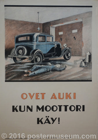 Ovet Auki Kun Moottori Day - Open doors when motor is running