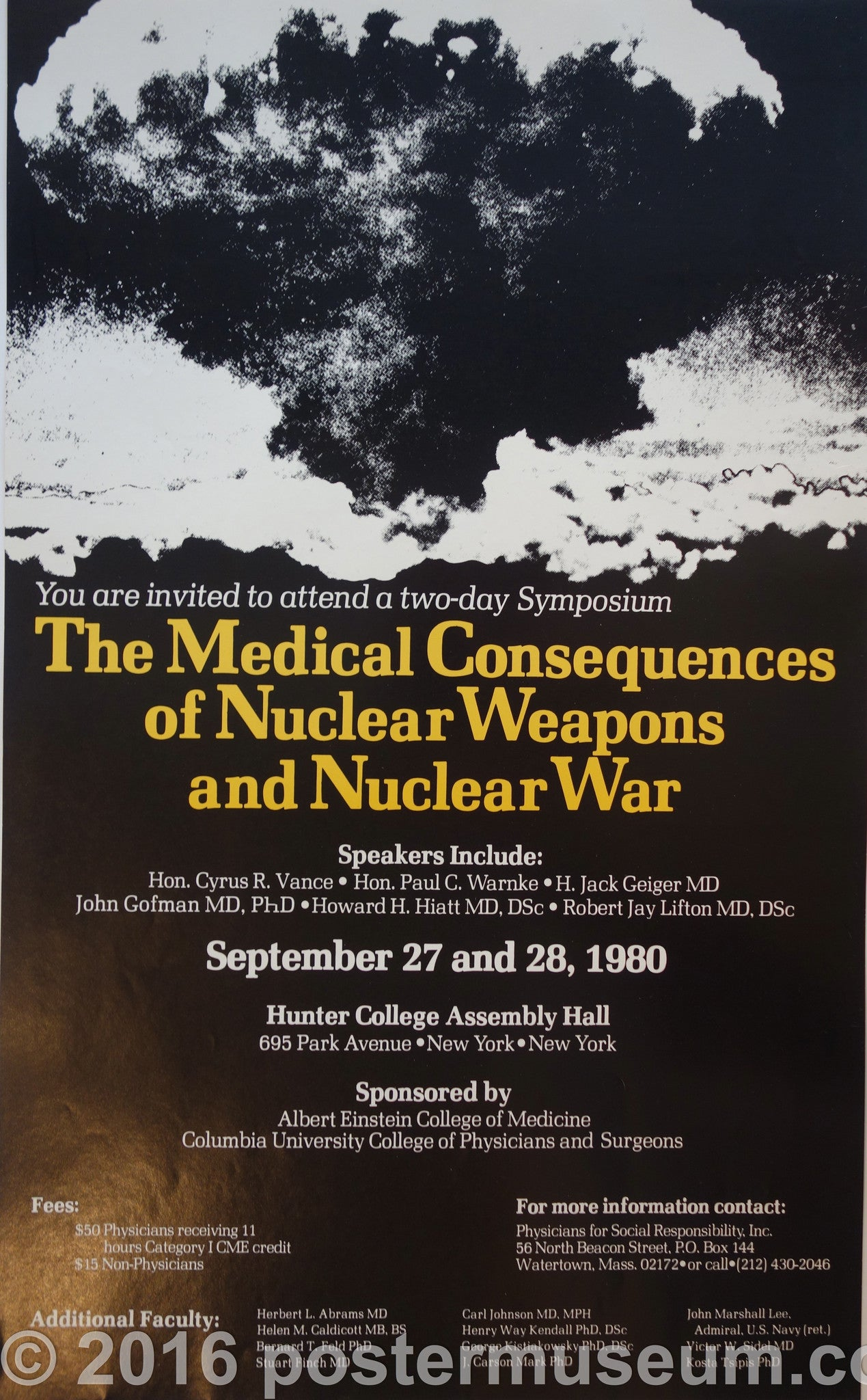 The Medical Consequences of Nuclear Weapons and Nuclear War