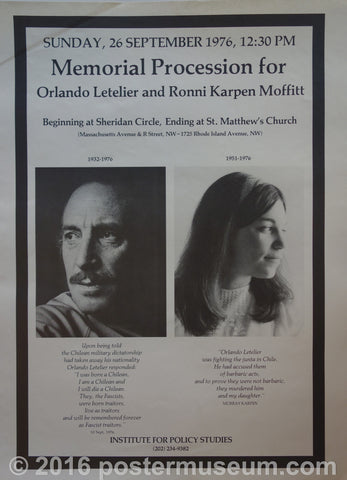 Memorial Procession for Orlando Letelier and Ronni Karpen Moffitt
