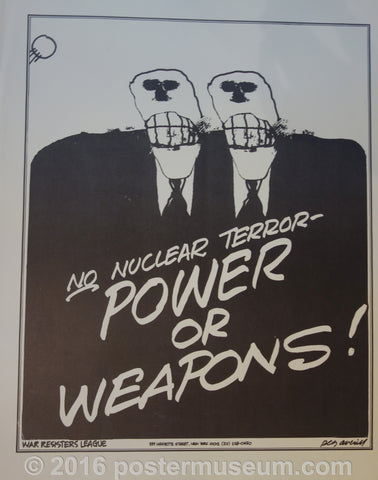 No Nuclear Terror Power or Weapons