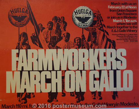 Farmworkers March On Gallo