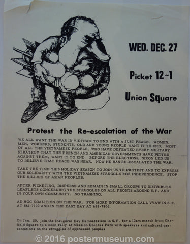 Protest the Re-escalation of the War