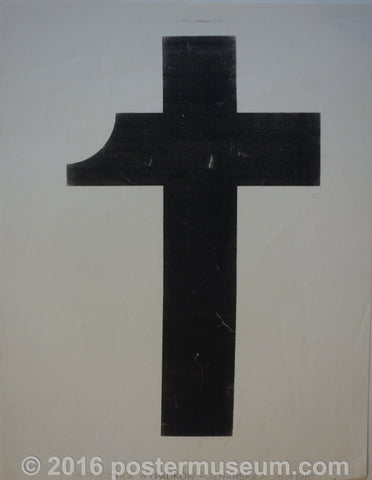 Black cross symbol