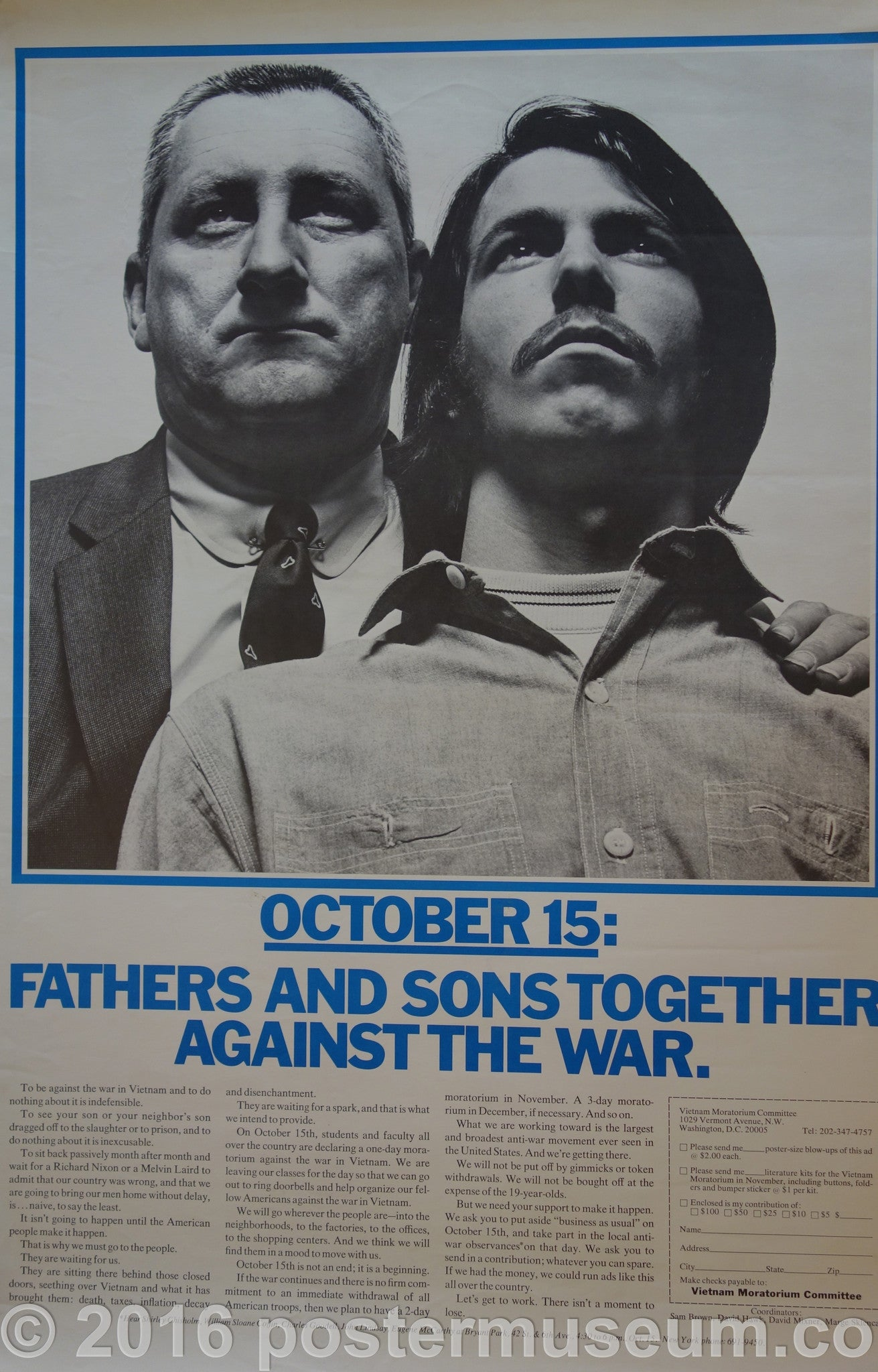 Fathers and Sons Together Against The War.