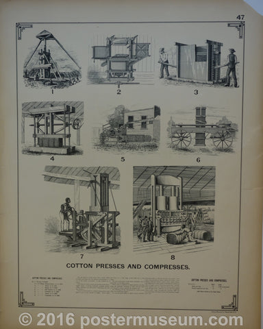 Cotton Presses and Compresses & Cotton Bale Ties