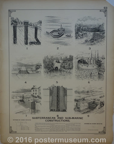 Subterranean and sub-marine Constructions and Iron Truss Bridges