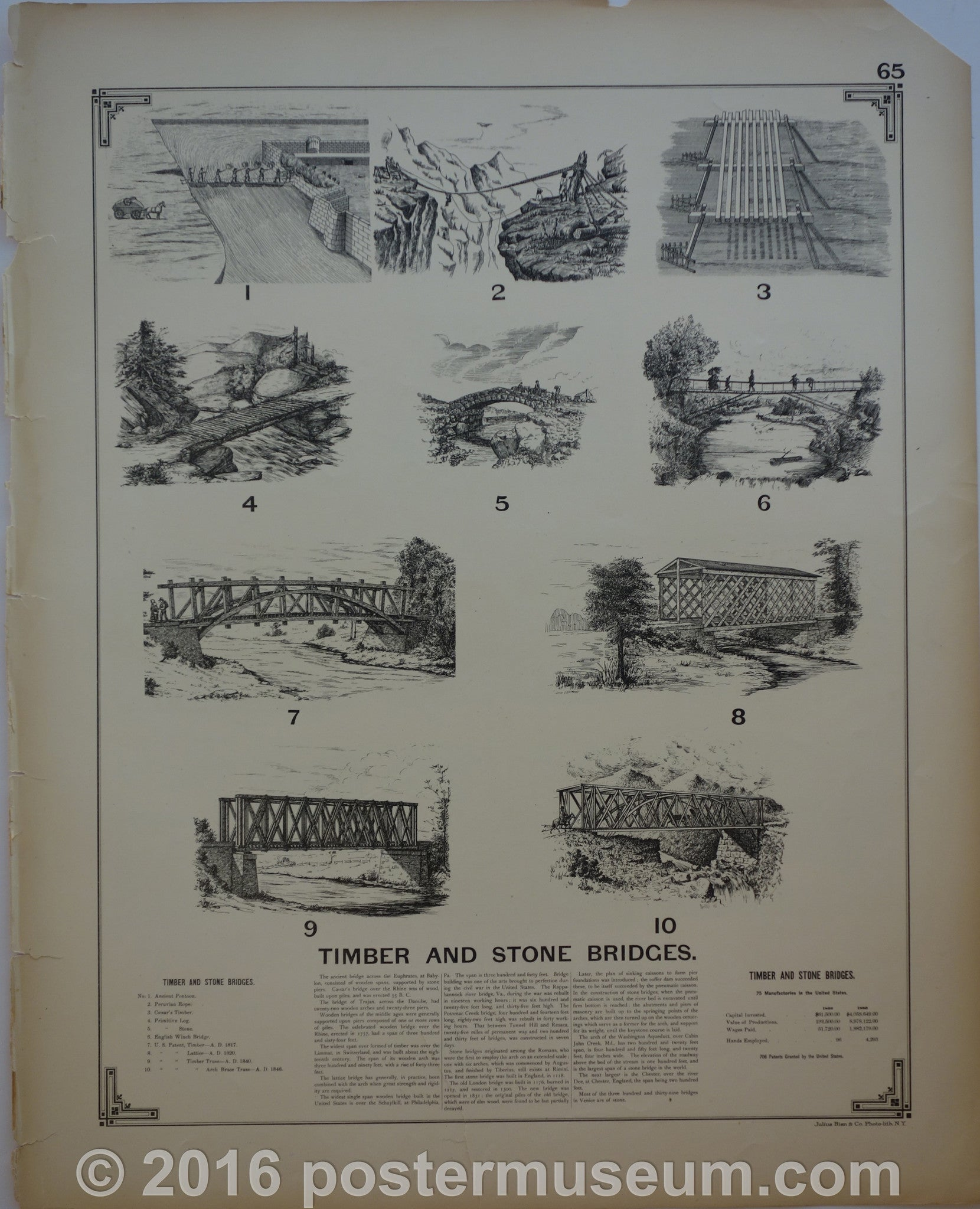 Timber and stone bridges and Railway Systems