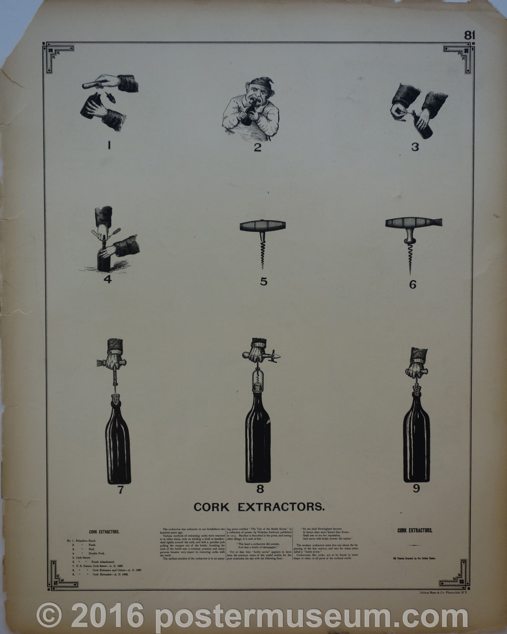 Cork extractors and Ironing