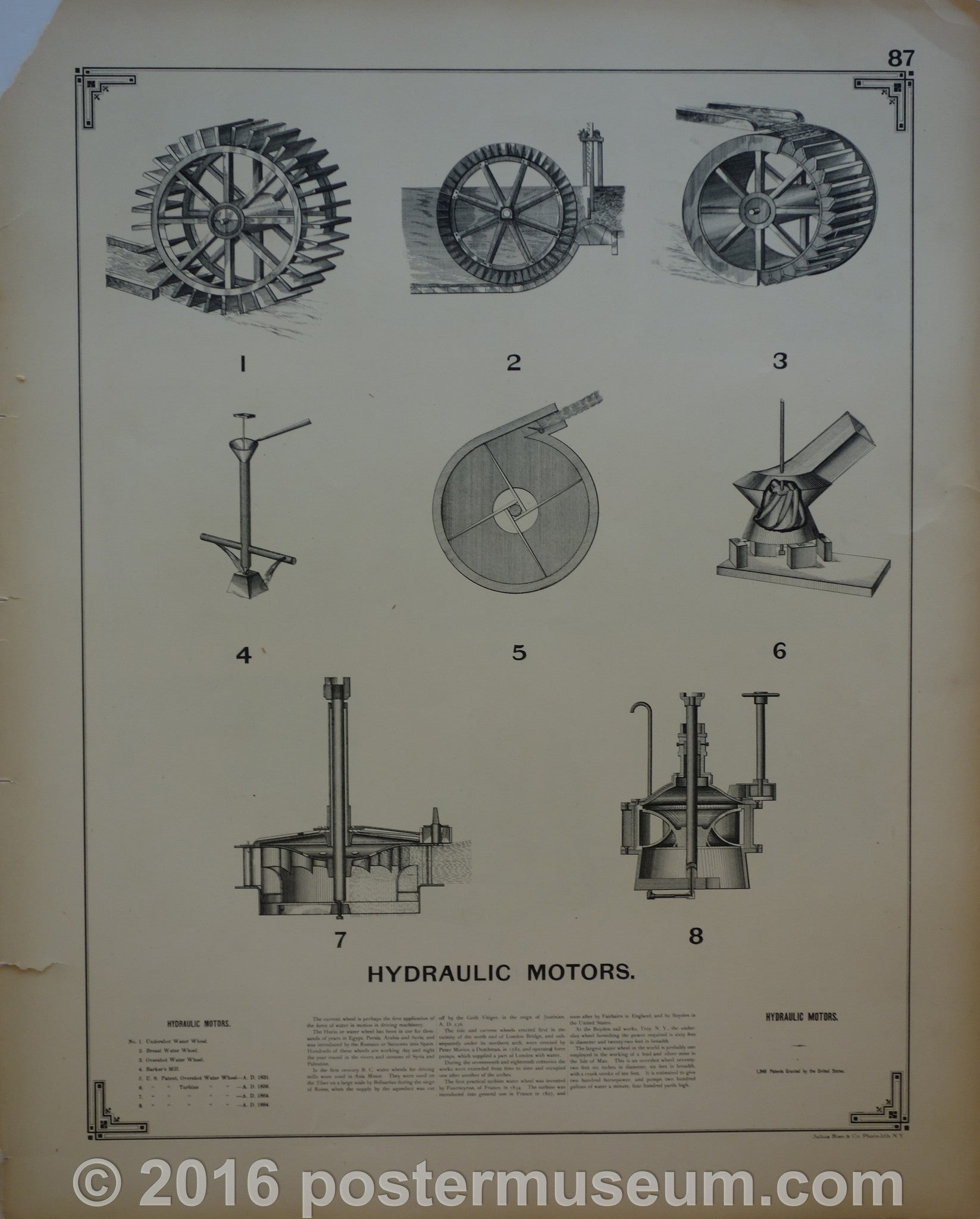 Hydraulic motors and Bread and cracker machines