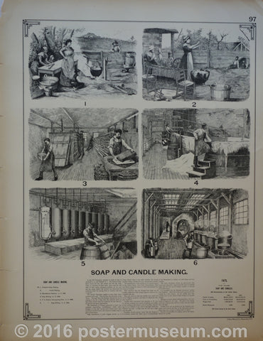 Soap and candle making & Stone sawing