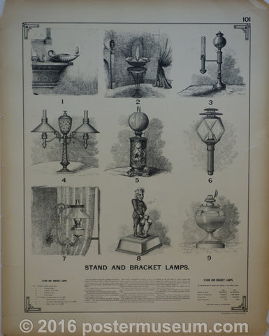 Stand and bracket lamps & suspended lamps