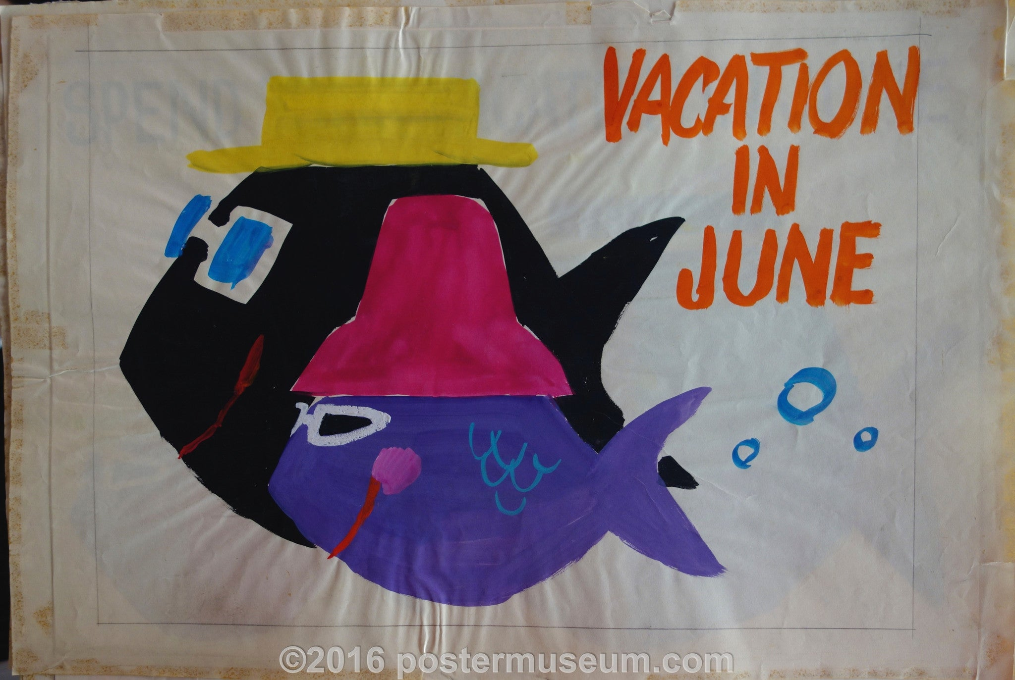 Vacation in June (Fish with Hats)