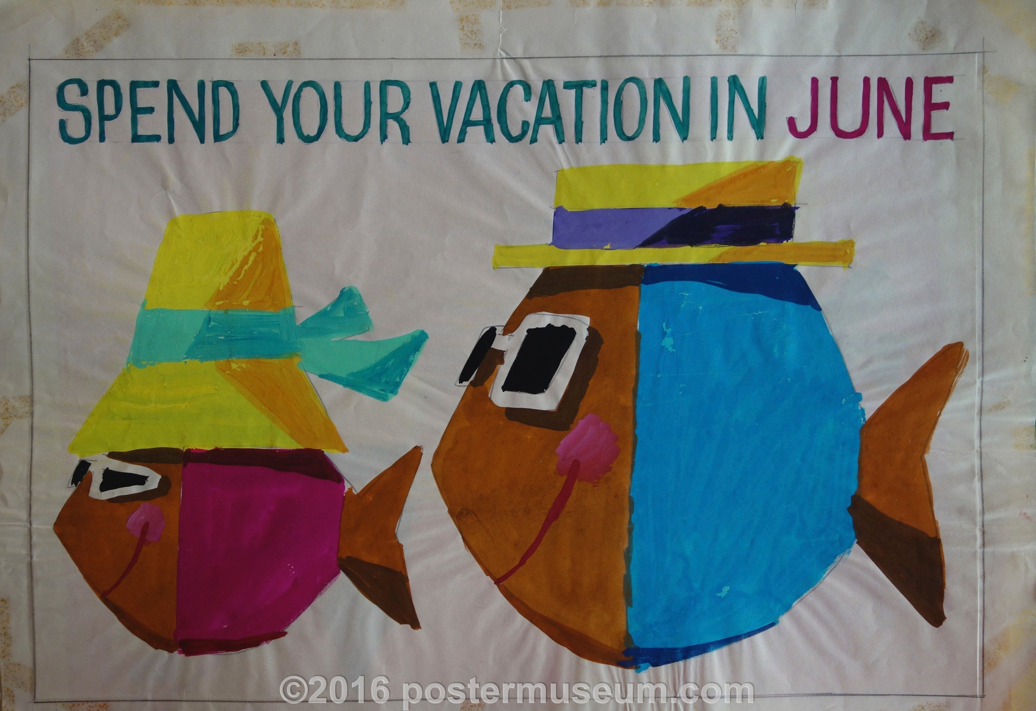 Spend Your Vacation in June (Fish with Hats v. 4)