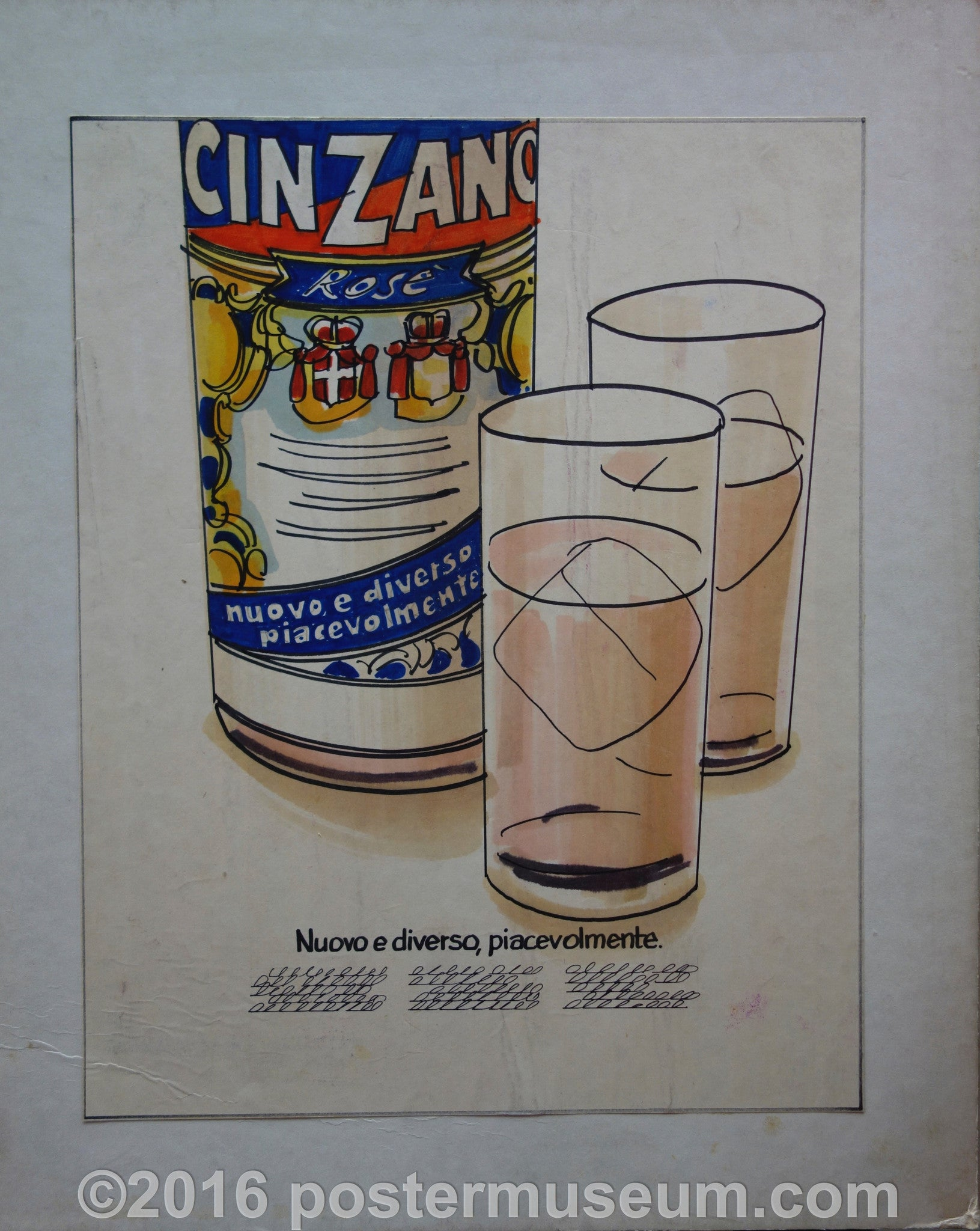 Cinzano (Bottle with Glasses)