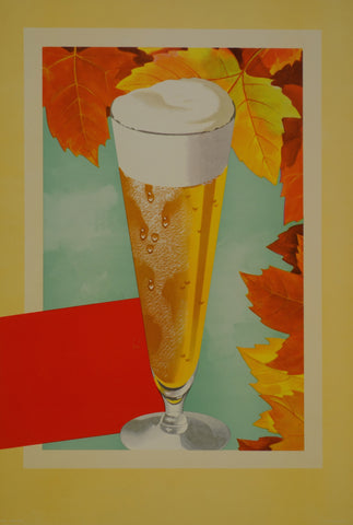 Beer and leaves