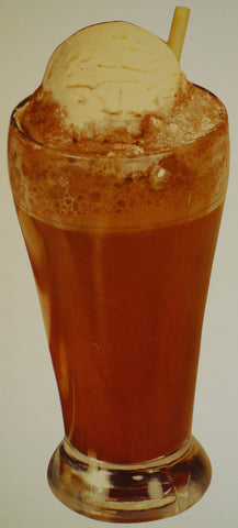 Rootbeer Float, white background