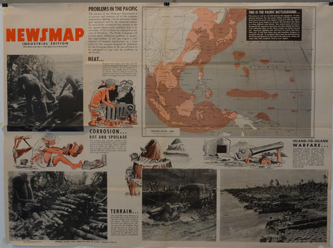 "Newsmap Industrial Edition ""Pacific Battleground"" - Poster Museum"