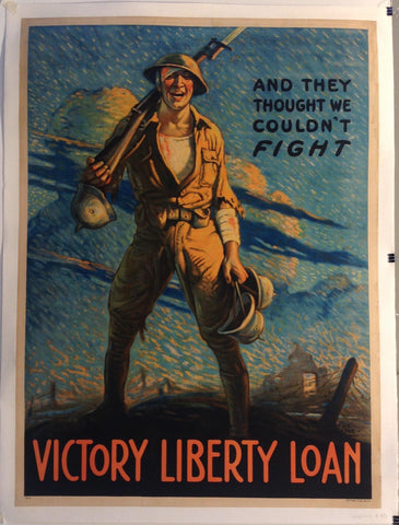 "And They Thought We Couldn't Fight ""Victory Liberty Loan"" - Poster Museum"