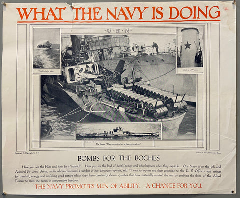 What the Navy is Doing Poster