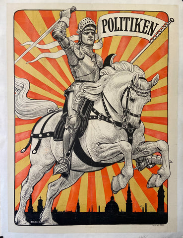 Poster of a knight riding a horse