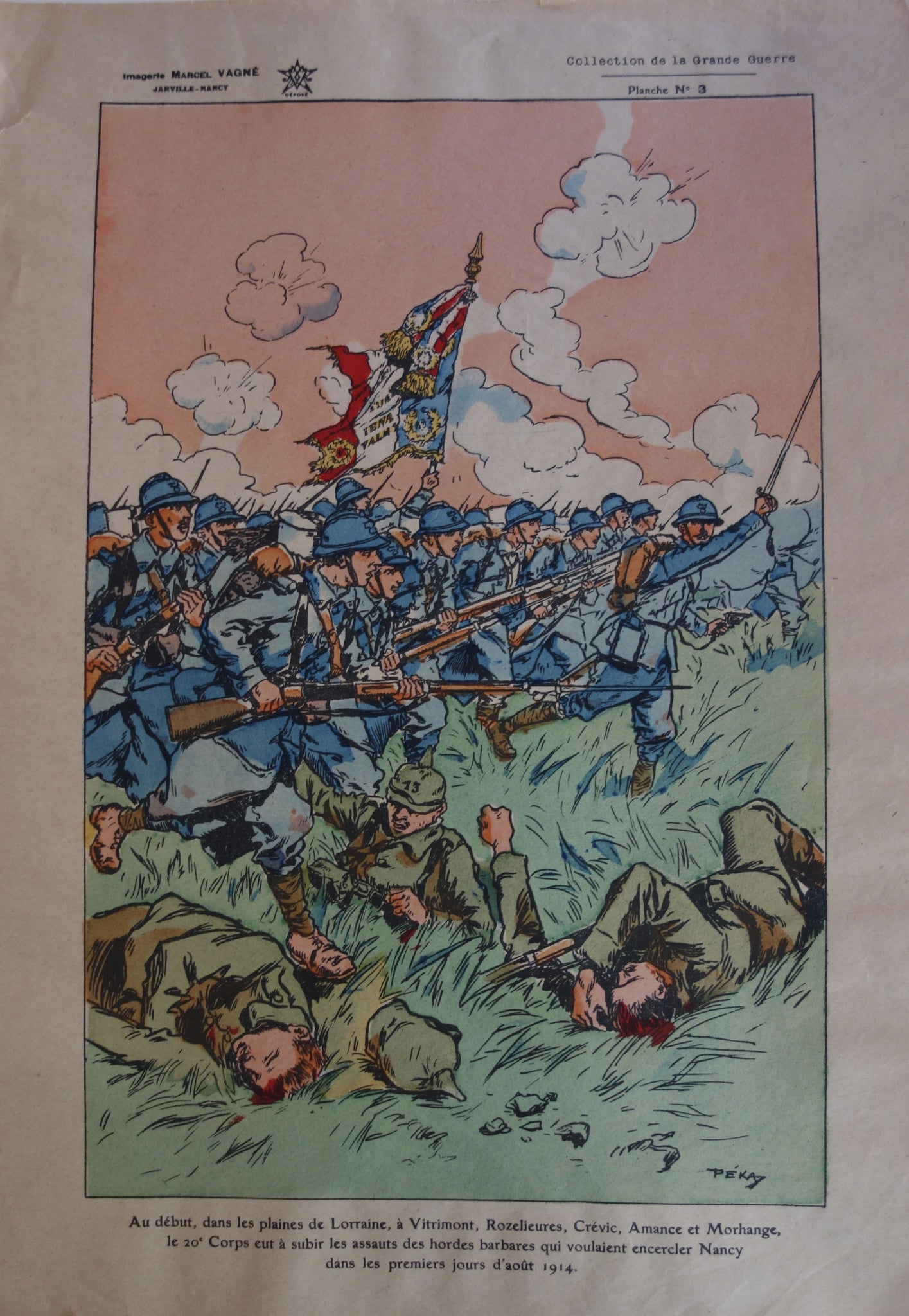 French Soldiers bayonette charge