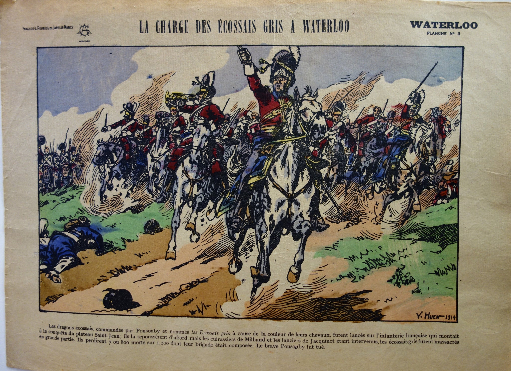 La Charge Des Ecossais Gris A Waterloo
