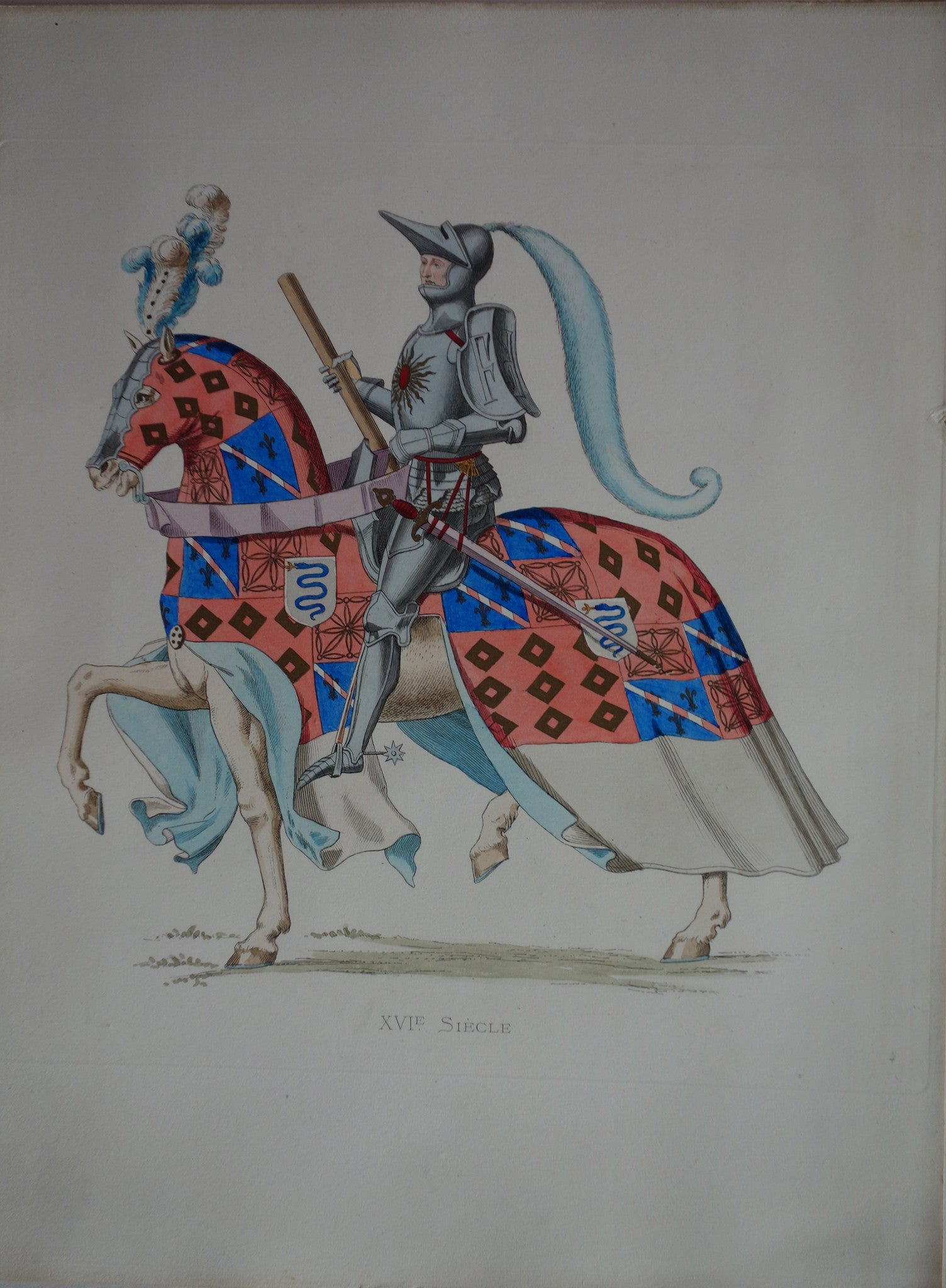 XVI Siecle On a White Horse
