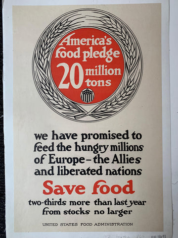 America's food pledge 20 million tons - Poster Museum