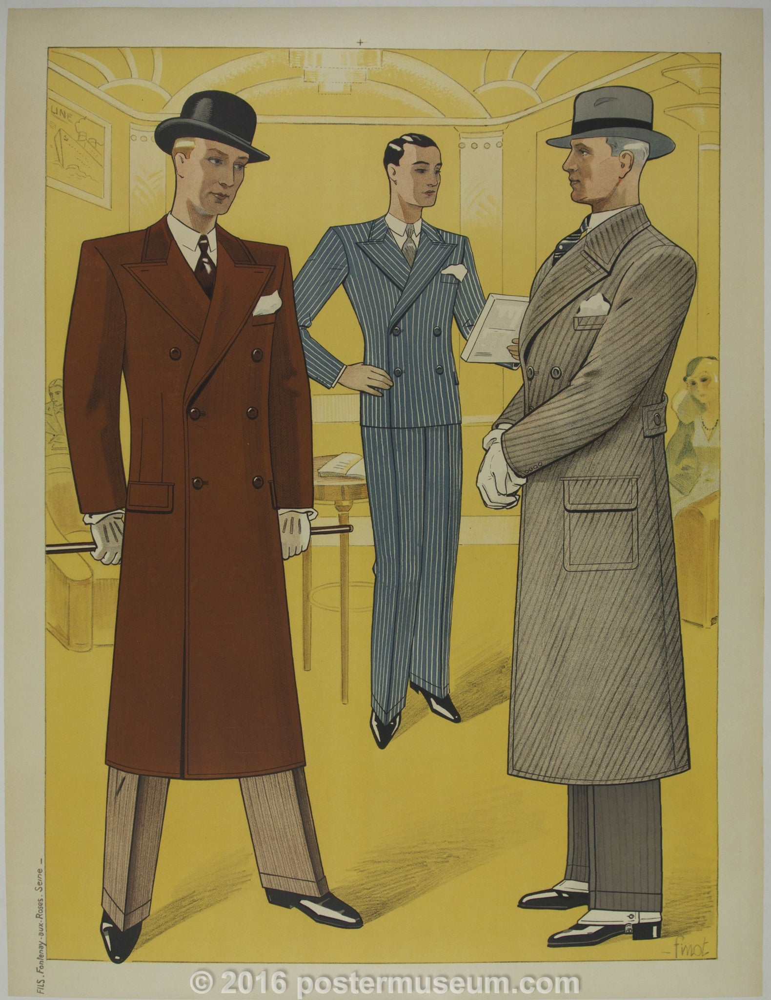Three Men Wearing Suits